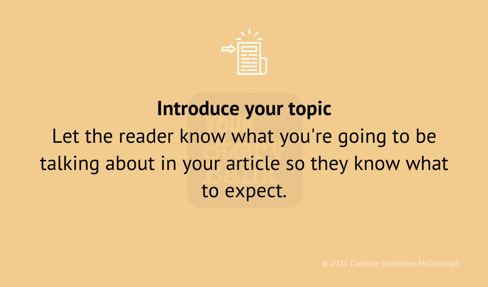 introduce topic